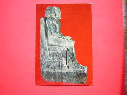 CPSM EGYPTE CAIRO THE EGYPTIAN MUSEUM LE ROI CHEPHREN CONSTRUCTEUR DE LA 2e PYRAMIDE 4e DYN    NON VOYAGEE - Antiquité