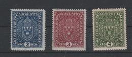 Mi. Nr. 200, 201, 202 Postfrisch - 1918-1945 1. Republik