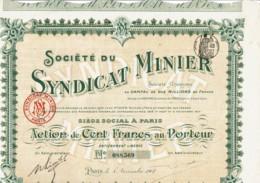 75-SYNDICAT MINIER. Sté Du Syndicat Minier. Paris. - Other