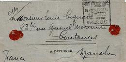 """1920- Lettre Du Maroc Avec Faux DAGUIN  """" AVIATION MILITAIRE / SERVICE POSTAL / Du PARC / MAROC"""" - Morocco (1891-1956)"""