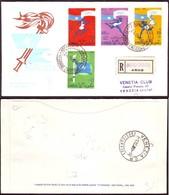 Fdc Venetia Som 1960 25s Olimpiade Roma Raccomandata - Somalia (AFIS)