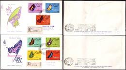 Fdc Venetia Som 1961 27s Farfalle 2 Raccomandate AT Al Verso - Somalia (AFIS)
