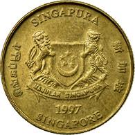 Monnaie, Singapour, 5 Cents, 1997, Singapore Mint, TTB, Aluminum-Bronze, KM:99 - Singapour