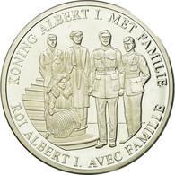 Belgique, Médaille, Roi Albert Ier Avec Sa Famille, 1998, FDC, Argent - Belgique
