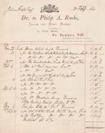 Royaume Uni Facture Illustrée 20/2/1880 Philip A Rooke Tailor And Habit Maker St James's LONDON - Royaume-Uni