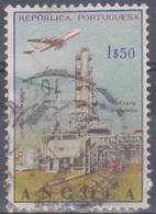 Angola 1965 Flugpostausgabe: Flugzeug über Bauten. Mi 514 1,50 E. Gestempelt - Angola
