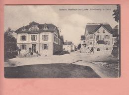 OLD POSTCARD - LIECHTENSTEIN - SCHAAN - GASTHAUS ZUR LINDE - MOEBELHANDLUNG A. THOENY - Liechtenstein