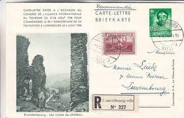 Luxembourg - Carte Lettre Recom De 1938 - Entiers Postaux - Oblit Luxembourg - Exp Vers Luxembourg - Industrie - Covers & Documents