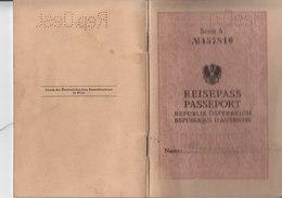 AD209 Alter Reisepass Aus Österreich Von BH Neunkirchen NÖ 1934 - Historische Dokumente