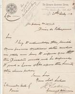Royaume Uni Facture Lettre Illustrée 28/7/1869 The European Assurance Society LONDON - Royaume-Uni