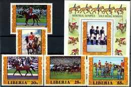 LIBERIA 1977 Nr 1032-1036 Postfrisch (112557) - Olympische Spiele