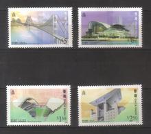 9976-Hong Kong, British Colonies – Complete Set MNH ** Michel 815-818 A – Buildings, Bridge - Hong Kong (...-1997)