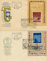 WARSZAWA - 1955 , Int. Briefmarkenausstellung - 2 Blöcke - Blocs & Hojas