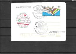 ITALIA 1981-Biglietto Camp.mondiale Sci Nautico Fdc (ref 626) - Ski Nautique