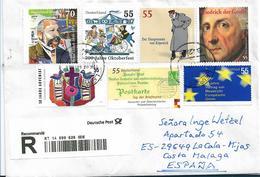 BRD1048a / Einschreiben 2019 Nach Spanien - Cartas