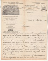 Royaume Uni Facture Lettre Illustrée 1890 MACADAM Directeur The Nitro Phosphate & Odams' Chemical Manure Company LONDON - Royaume-Uni