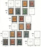 Typo Antwerpen 1922 1929 - Zonder Gom (*) - Typografisch 1922-31 (Houyoux)
