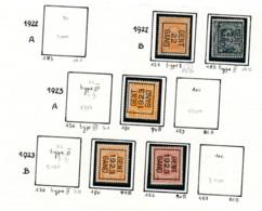Préo - Typo Gent 1922 1929 - Zonder Gom (*) - Typografisch 1922-31 (Houyoux)