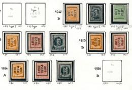 Préo - Typo Liège 1922 1929 - Sans Gomme (*) - Typografisch 1922-31 (Houyoux)
