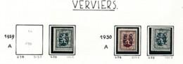 Préo - Typo Verviers  1929  1930- Sans Gomme (*) - Precancels