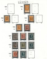 Préo - Typo Leuven 1923 1929 - Zonder Gom (*) + 1930 - Precancels