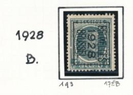 Préo - Typo Bruxelles 1928 Brussel - Impression Double  (*) - Typografisch 1922-31 (Houyoux)