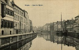 CLICHE RARE BRUGES   QUAI DU MIROIR - Brugge