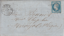MARQUE POSTALE LAC  29 ST JEAN DU GARD A MARVEJOLS   PC 3124 S/14  29 JUIN 1861 - 1849-1876: Période Classique
