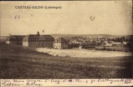 Cp Chateau Salins Moselle, Gesamtansicht, Feldlazarett XVI, I. WK - France