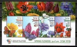Israel 2018 / Flowers Butterflies MNH Flores Mariposas Fleurs Papillons Blumen Schmetterlinge / Cu12000  41 - Vegetales