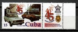 Cuba 2004 / Police Cars MNH Policía Coches Autos / Cu11812  C1 - Policia – Guardia Civil