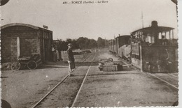 19 / 3 / 265  -  TORCÉ  ( 72 )  CARTE  PHOTO  DE  LA  GARE - Frankrijk