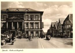 Detmold, Markt Und Langestrasse, Städtische Sparkasse, Ca. 40er/50er Jahre - Detmold