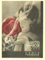 """PUB  CIGARETTES """" PRIMEROSE  """"  1931  ( 1 ) - Tabac (objets Liés)"""