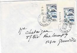 TP  N° 2193 En Paire Sur Enveloppe De Granville - Marcophilie (Lettres)