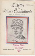 LA LETTRE DE LA FRANCE COMBATTANTE 1942 AU CANADA - Livres, BD, Revues