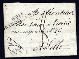 LETI- RARE MARQUE NOIRE GRANDE ARMÉE N° 12 DE LOHBERG EN BAVIERE-  ALLEMAGNE1807- 4 SCANS - Marcophilie (Lettres)