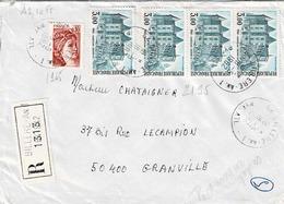 TP  N° 2195 En Bande De 4 Et 1965 Sur Enveloppe En Recommandé De Billere - 1961-....