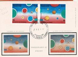 TP  N° 2199 Et 2200 En Double Sur Carte Postale 1er Jour De J.M.Folon - Marcophilie (Lettres)