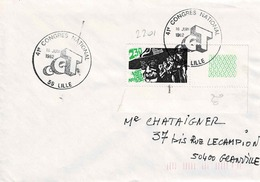 TP  N°  2201 Seul Sur Enveloppe Du Congrès CGT De Lille - 1961-....