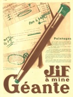 "PUB STYLO MINE  "" JIF  ""    1931  ( 1 ) - Pens"