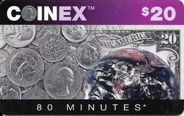 Carte Prépayée COINEX 80 Minutes - Stati Uniti
