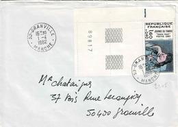 TP Entre  N°  2205 (bord De Feuille) Seul Sur Enveloppe De Granville - 1961-....