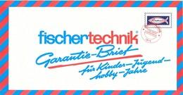 KAT329 Modellprospekt Fischertechnik Garantiebrief 1973, Deutsch, Neu - Literature & DVD
