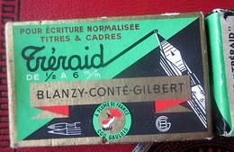 BOITE DE 32 PLUMES BLANZY-CONTE-GILBERT Bureau(objets Liés)Plumes Normalisée Pour Titres Cadre-écrire Dessiner à L'encre - Plumas