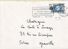 TP N°  2207 Seul Sur Enveloppe De Paris 18 - Marcophilie (Lettres)