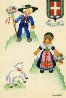 CPSM  Illustrateur ADDIN - Savoie - Autres Illustrateurs