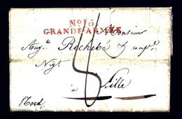 LETI- RARE MARQUE ROUGE GRANDE ARMÉE N° 16 DE HERMSDORF EN ALLEMAGNE 1807- 4 SCANS - Marcophilie (Lettres)