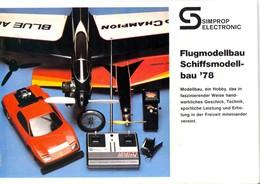 KAT332 Modellprospekt Simprop Electronic 1978, Deutsch, Neu - Littérature & DVD