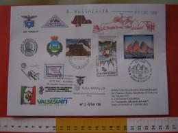 A.99 ITALIA ANNULLO - 2008 DISPACCIO ALAGNA RIFUGIO MARGHERITA VARALLO ALFA ROMEO MATTA JEPP AURONZO CADORE BELLUNO FDC - Geografia